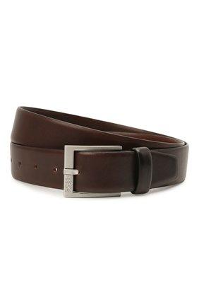 Мужской кожаный ремень BOSS коричневого цвета, арт. 50389781 | Фото 1 (Статус проверки: Проверено, Проверена категория; Случай: Формальный)