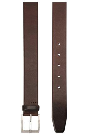 Мужской кожаный ремень BOSS коричневого цвета, арт. 50389781 | Фото 2 (Статус проверки: Проверено, Проверена категория; Случай: Формальный)