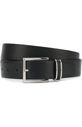 Мужской кожаный ремень BOSS черного цвета, арт. 50397961 | Фото 1