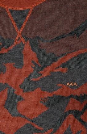 Джемпер из смеси хлопка и шелка с принтом | Фото №5