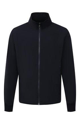 Мужская двусторонняя куртка Z ZEGNA темно-синего цвета, арт. V8044/ZZT052   Фото 1