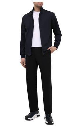 Мужская двусторонняя куртка Z ZEGNA темно-синего цвета, арт. V8044/ZZT052   Фото 2