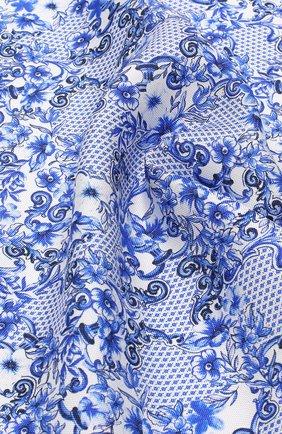 Шелковый платок с принтом Eton синий | Фото №1