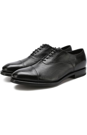 Классические кожаные дерби H`D`S`N Baracco черные | Фото №1