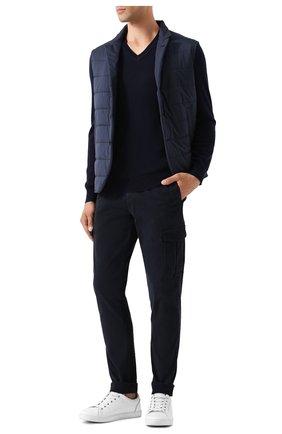 Мужской шерстяной пуловер POLO RALPH LAUREN темно-синего цвета, арт. 710714347 | Фото 2