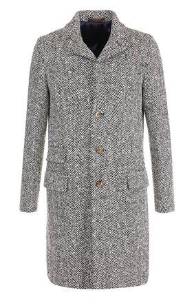 Однобортное шерстяное пальто Eleventy UOMO серого цвета   Фото №1