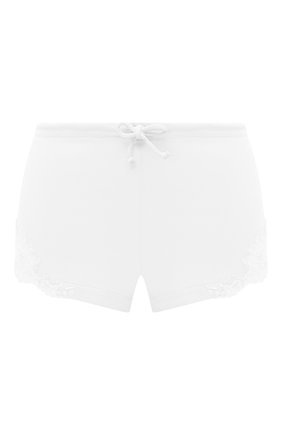 Хлопковые шорты с кружевной отделкой | Фото №1
