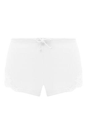 Женские хлопковые шорты LA PERLA белого цвета, арт. 0021056 | Фото 1