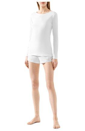 Женские хлопковые шорты LA PERLA белого цвета, арт. 0021056 | Фото 2
