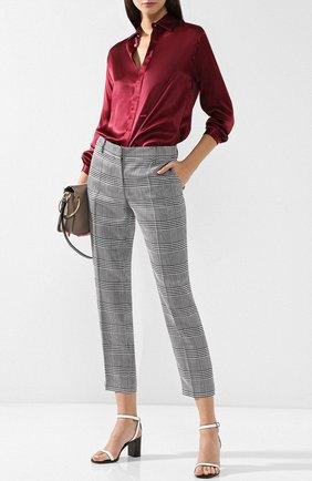 Укороченные брюки со стрелками в клетку Emilio Pucci черно-белые | Фото №1