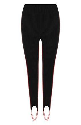 Шерстяные леггинсы со штрипками и контрастными лампасами CALVIN KLEIN 205W39NYC черные | Фото №1