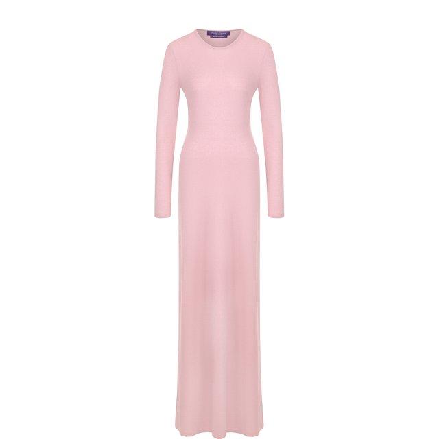 Однотонное платье-макси из кашемира Ralph Lauren