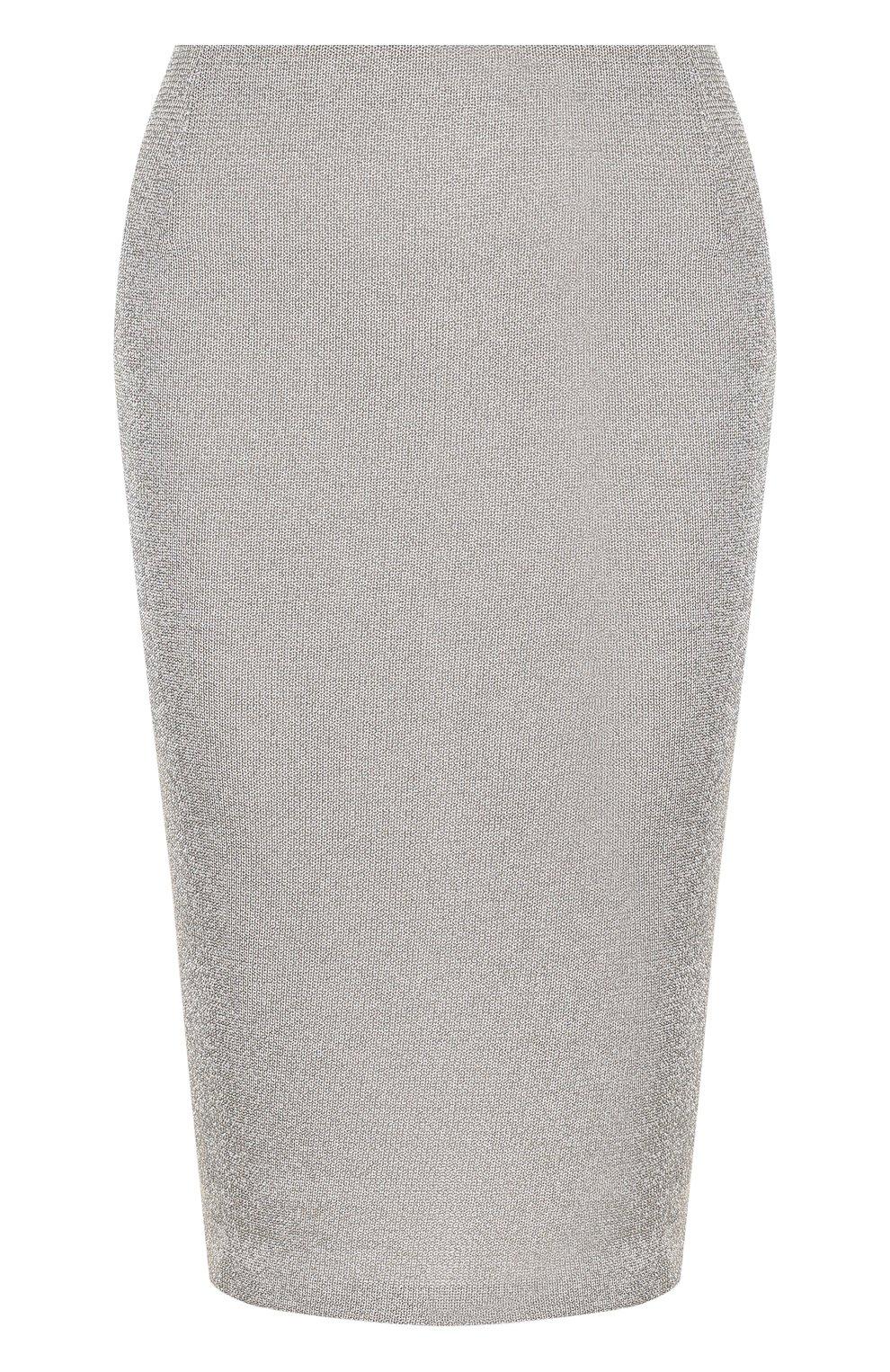 Вязаная юбка-карандаш из смеси кашемира и вискозы | Фото №1