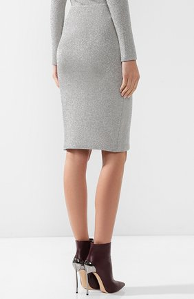 Вязаная юбка-карандаш из смеси кашемира и вискозы | Фото №4