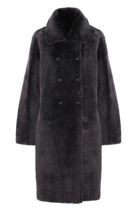 Двубортное меховое пальто   Фото №1