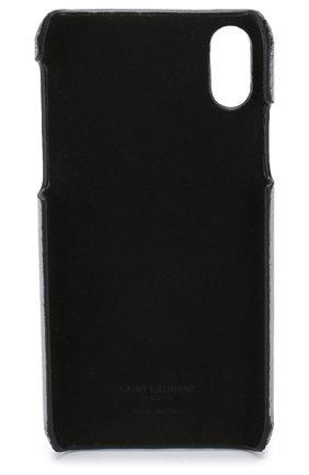 Кожаный чехол для iPhone X Saint Laurent  | Фото №2