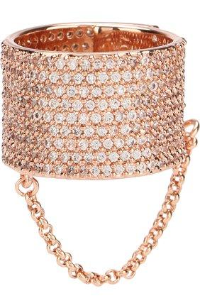 Кольцо с декоративной цепочкой Eddie Borgo розовое | Фото №1
