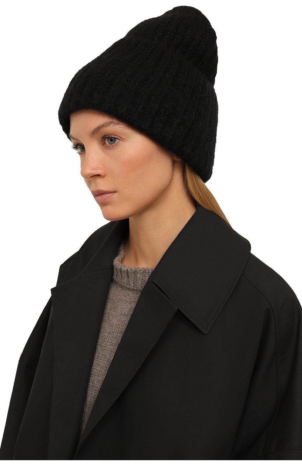 Женская шапка TAK.ORI черного цвета, арт. AC043MW018PF17   Фото 2 (Материал: Текстиль, Шерсть, Синтетический материал; Статус проверки: Проверено, Проверена категория)