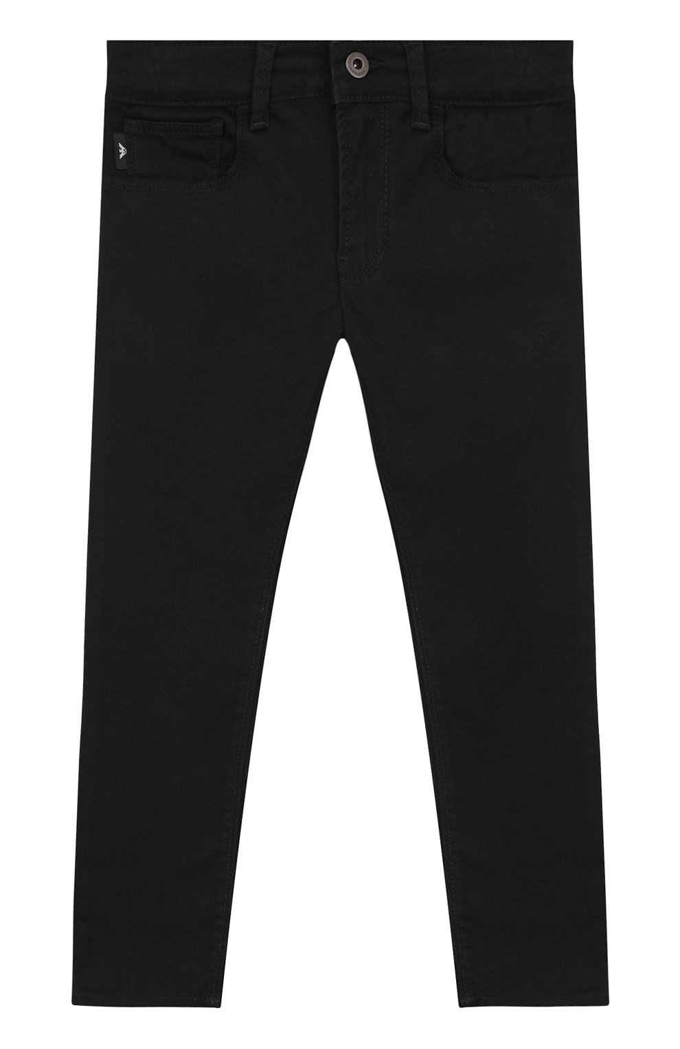 Детские джинсы прямого кроя EMPORIO ARMANI черного цвета — купить за ... e38d4f5108a