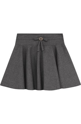 Мини-юбка свободного кроя с декором на поясе | Фото №1