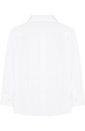 Детская хлопковая сорочка под смокинг DOLCE & GABBANA белого цвета, арт. L42S56/FU5GK/2-6 | Фото 2 (Материал внешний: Хлопок; Рукава: Длинные; Статус проверки: Проверена категория; Принт: Без принта; Случай: Формальный; Стили: Классический; Ростовка одежда: 2 года | 92 см, 3 года | 98 см, 4 года | 104 см, 5 лет | 110 см, 6 лет | 116 см)