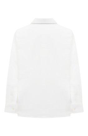 Детская хлопковая рубашка DOLCE & GABBANA белого цвета, арт. L42S56/FU5GK/8-14 | Фото 2 (Статус проверки: Проверена категория; Рукава: Длинные; Материал внешний: Хлопок; Принт: Без принта; Случай: Формальный; Стили: Классический; Ростовка одежда: 10 - 11 лет | 140 - 146см, 12 лет | 152 см, 8 лет | 128 см)
