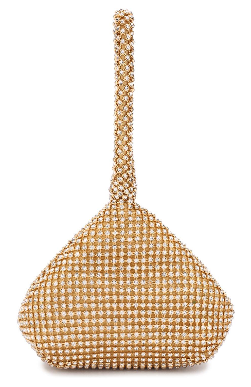 Детская сумка со стразами DAVID CHARLES золотого цвета, арт. 1605   Фото 1