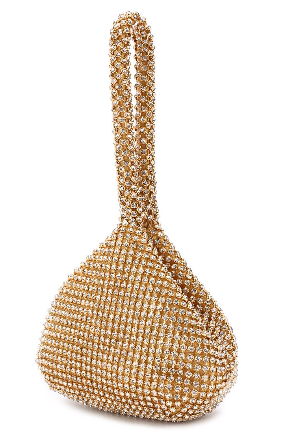Детская сумка со стразами DAVID CHARLES золотого цвета, арт. 1605   Фото 2