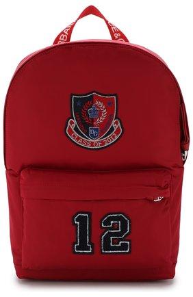 Детская рюкзак с аппликациями DOLCE & GABBANA красного цвета, арт. EM0034/AU359 | Фото 1