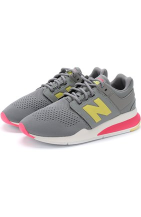 Детские кроссовки new balance 247v2 tritium New Balance серого цвета | Фото №1