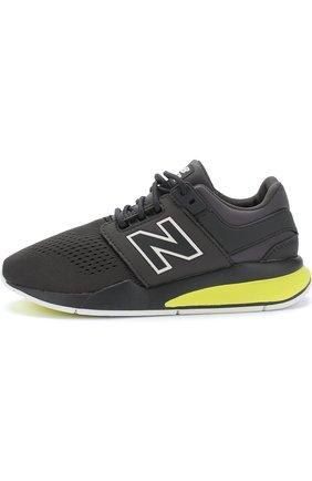 Детские кроссовки new balance 247v2 tritium New Balance темно-серого цвета | Фото №1