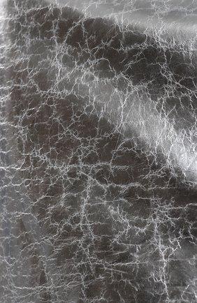 Кожаная мини-юбка на молнии | Фото №5