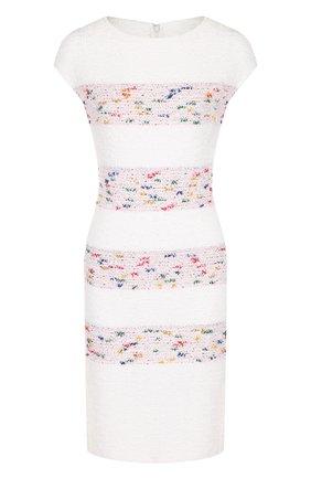 Вязаное платье с круглым вырезом St. John белое | Фото №1