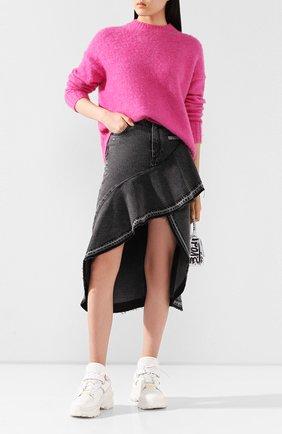 Женская шерстяной свитер HELMUT LANG розового цвета, арт. I05HW706 | Фото 2