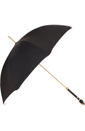 Зонт-трость с отделкой кристаллами Swarovski Pasotti Ombrelli черный | Фото №1