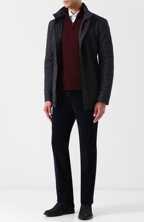 Мужские кожаные ботинки  TOD'S темно-синего цвета, арт. XXM45A00D80RE0 | Фото 2