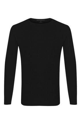Мужские лонгслив DEREK ROSE черного цвета, арт. 3083-BASE001 | Фото 1