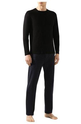 Мужские лонгслив DEREK ROSE черного цвета, арт. 3083-BASE001 | Фото 2