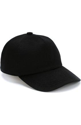 Мужской кашемировая бейсболка ZEGNA COUTURE черного цвета, арт. Z4I82/B2I | Фото 1