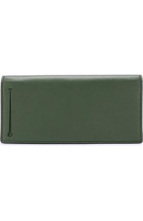 Мужской кожаное портмоне ERMENEGILDO ZEGNA зеленого цвета, арт. E1257T-AFR | Фото 1