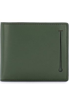 Мужской кожаное портмоне с отделениями для кредитных карт ERMENEGILDO ZEGNA зеленого цвета, арт. E1258T-AFR | Фото 1