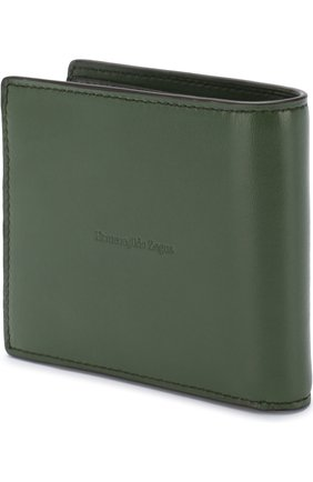 Мужской кожаное портмоне с отделениями для кредитных карт ERMENEGILDO ZEGNA зеленого цвета, арт. E1258T-AFR | Фото 2