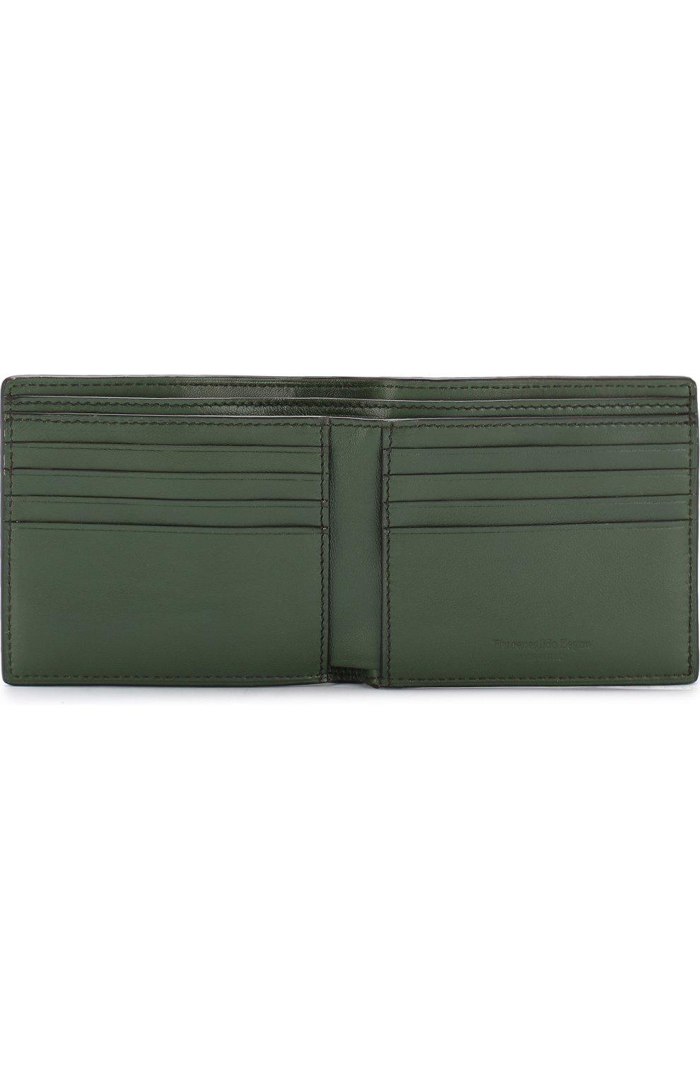 Кожаное портмоне с отделениями для кредитных карт | Фото №3