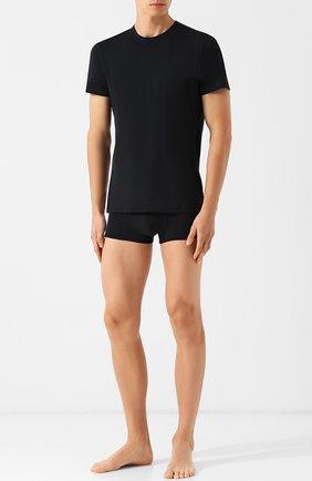 Мужские хлопковая футболка с круглым вырезом LA PERLA черного цвета, арт. M022168 | Фото 2