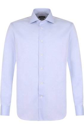 Мужская хлопковая сорочка с воротником кент CORNELIANI голубого цвета, арт. 82P100-8811408/00 | Фото 1