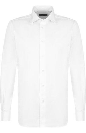 Мужская хлопковая сорочка с воротником кент CORNELIANI белого цвета, арт. 82P150-8811211/00 | Фото 1