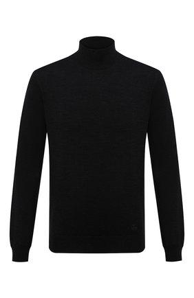 Мужской шерстяная водолазка CORNELIANI черного цвета, арт. 00M503-0025100/00 | Фото 1