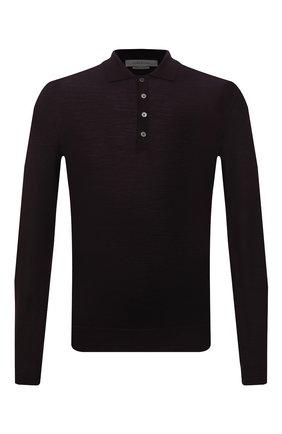 Мужское шерстяное поло с длинными рукавами CORNELIANI темно-бордового цвета, арт. 00M529-0025126/00   Фото 1