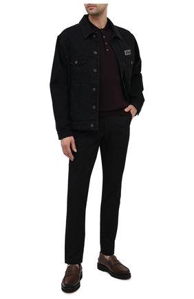 Мужское шерстяное поло с длинными рукавами CORNELIANI темно-бордового цвета, арт. 00M529-0025126/00   Фото 2
