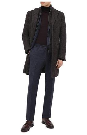 Мужской однотонная шерстяная водолазка CORNELIANI бордового цвета, арт. 00M523-0025126/00 | Фото 2